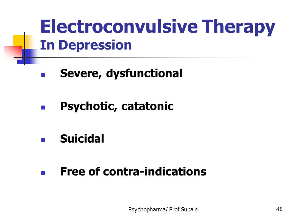 Electroconvulsive Therapy In Depression
