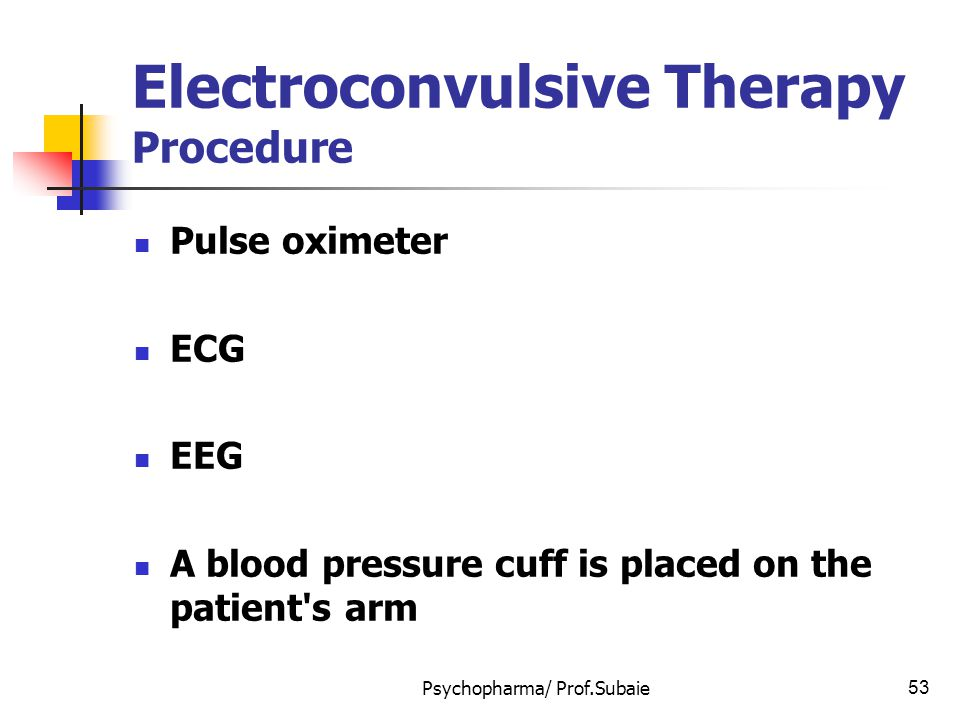 Electroconvulsive Therapy Procedure