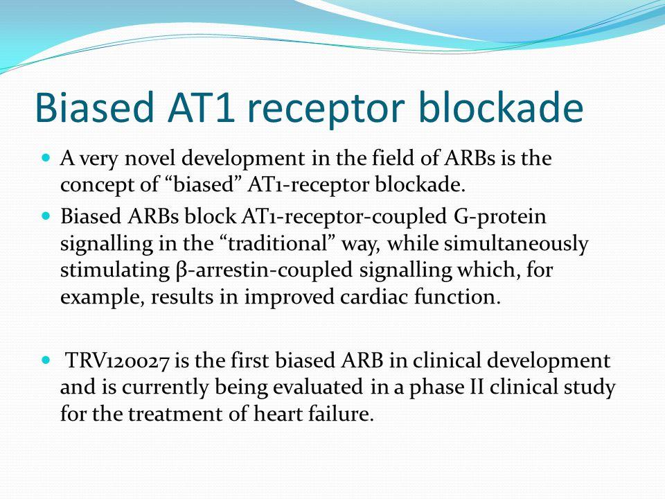 Biased AT1 receptor blockade