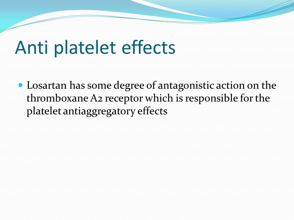 Anti platelet effects