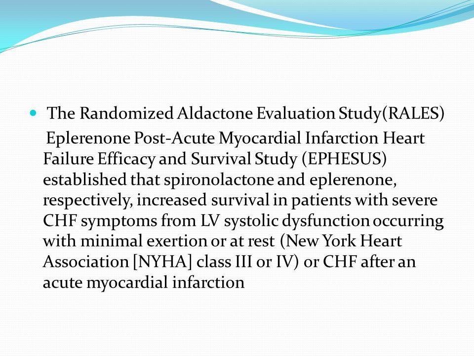 The Randomized Aldactone Evaluation Study(RALES)