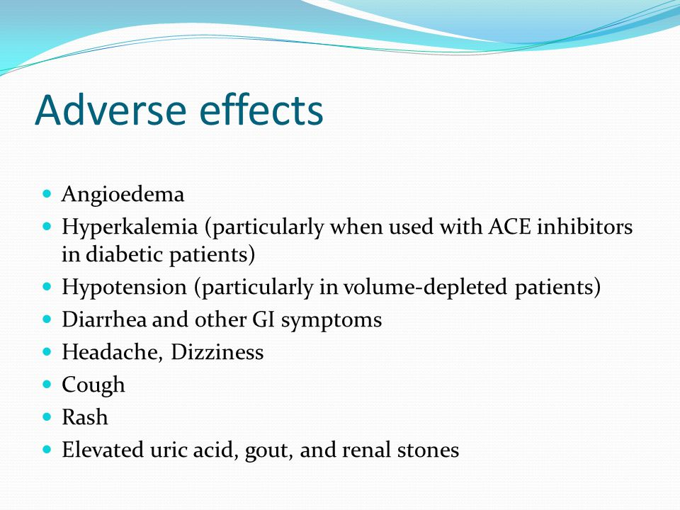 Adverse effects Angioedema