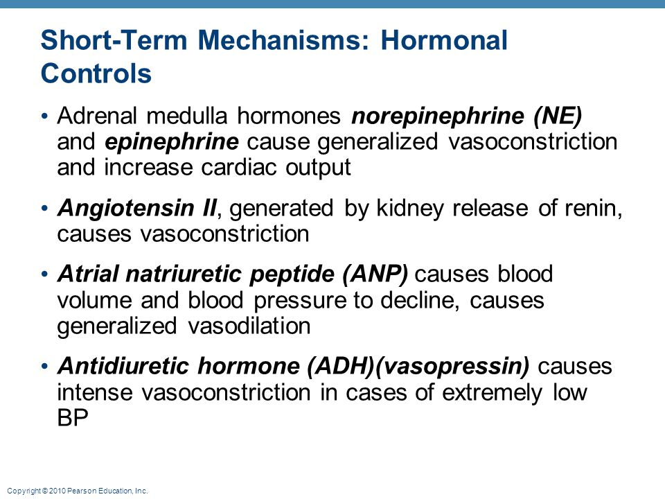 Short-Term Mechanisms: Hormonal Controls