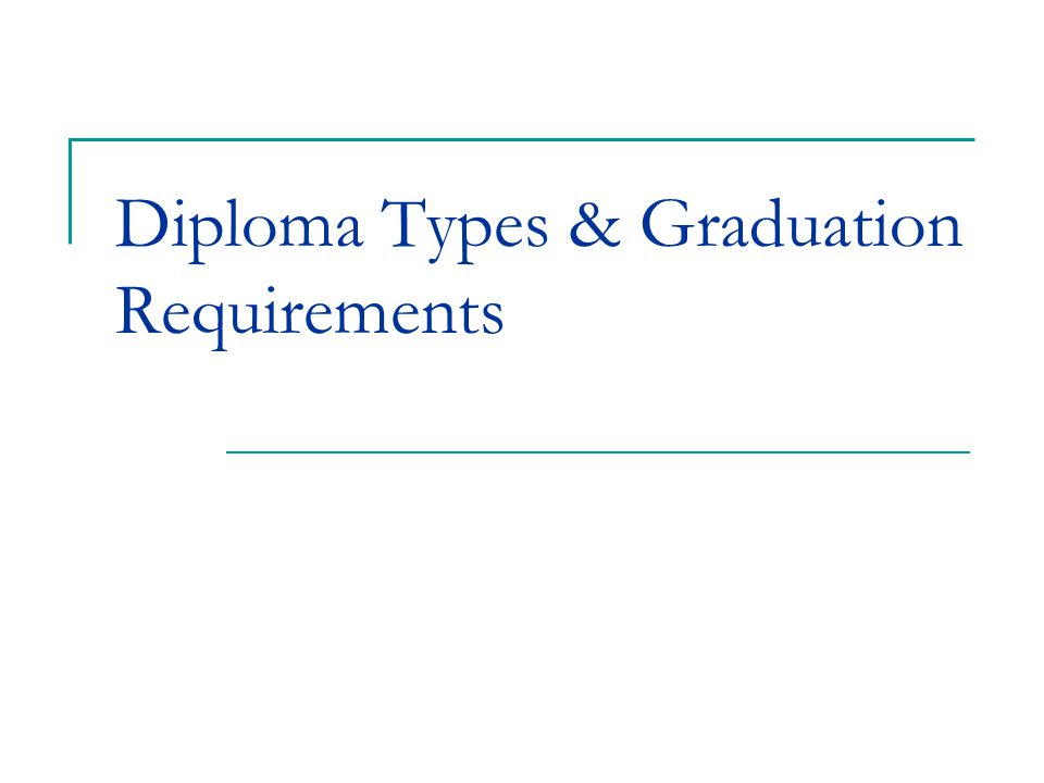 Diploma Types & Graduation Requirements