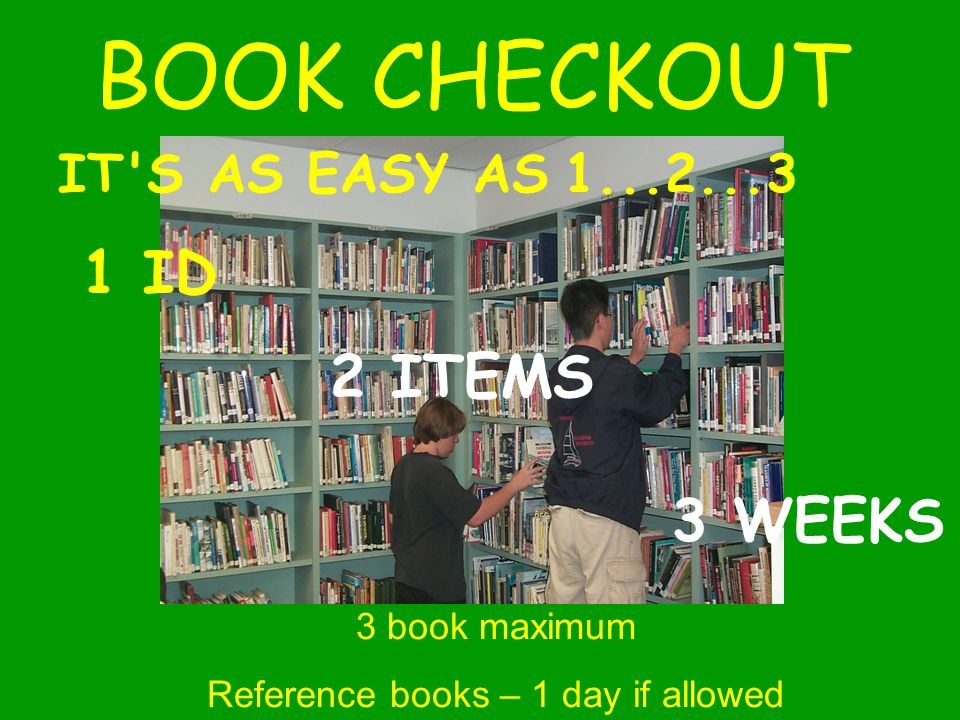 Reference books – 1 day if allowed