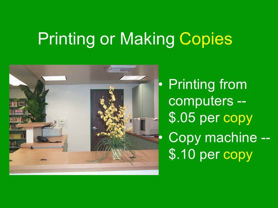 Printing or Making Copies