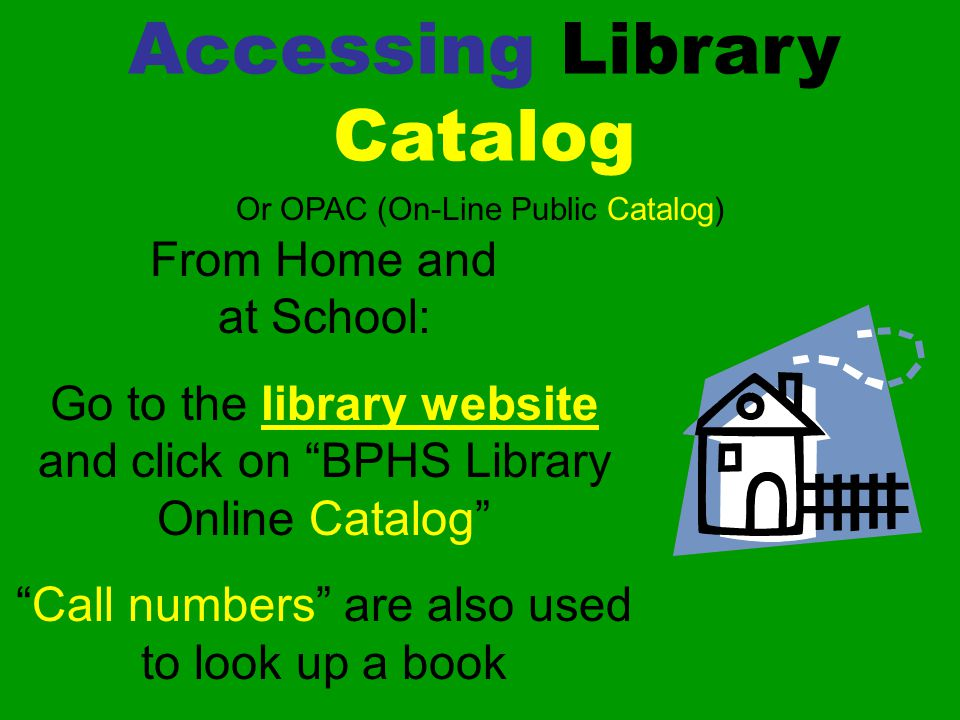 Accessing Library Catalog