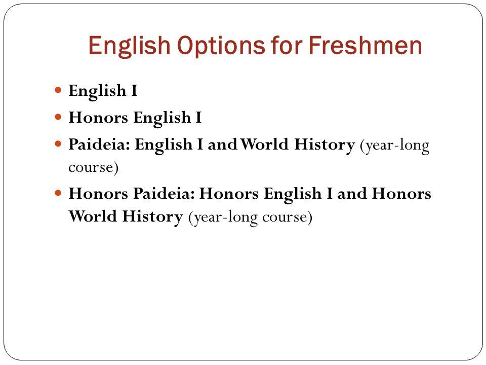 English Options for Freshmen
