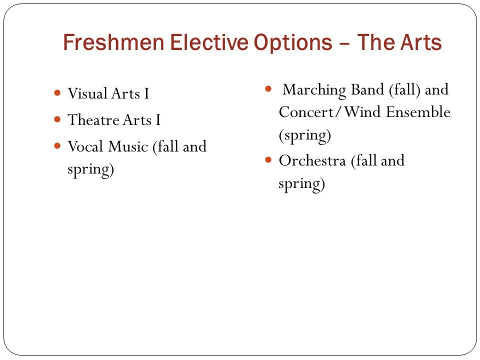 Freshmen Elective Options – The Arts