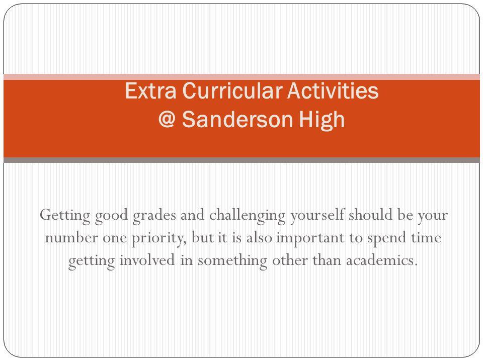 Extra Curricular Activities @ Sanderson High