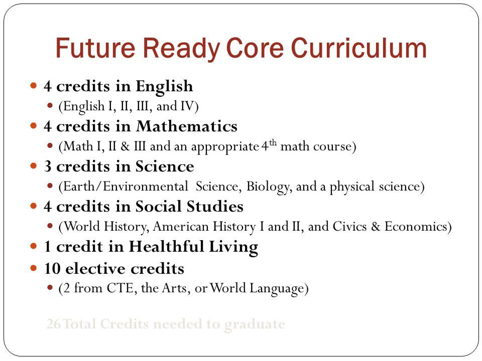 Future Ready Core Curriculum
