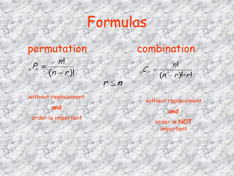 Permutations and Combinations (MAT 142)