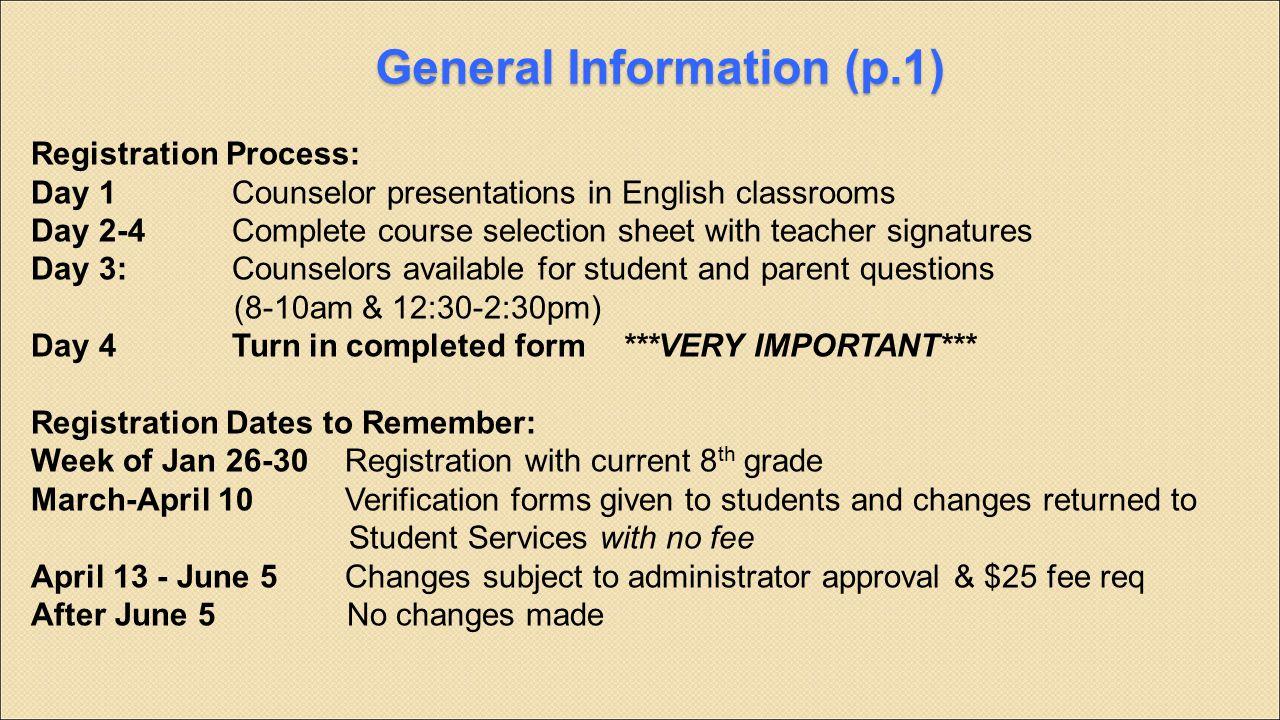 General Information (p.1)