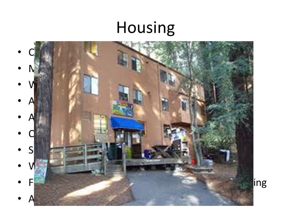 Housing Coed Housing Men s Housing Women s Housing