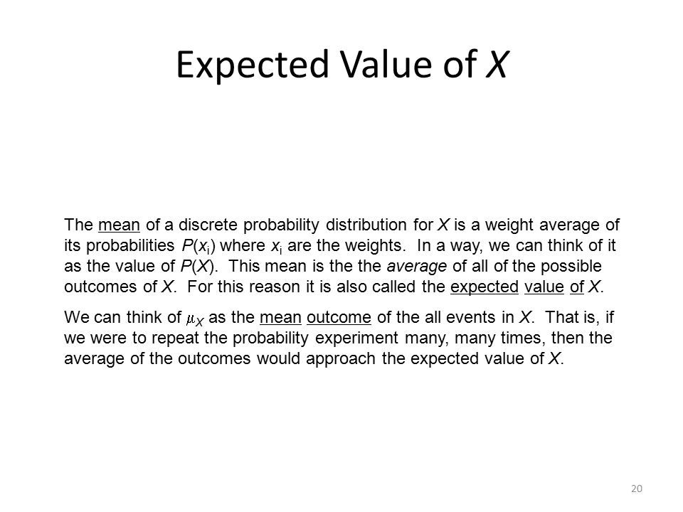 Expected Value of X