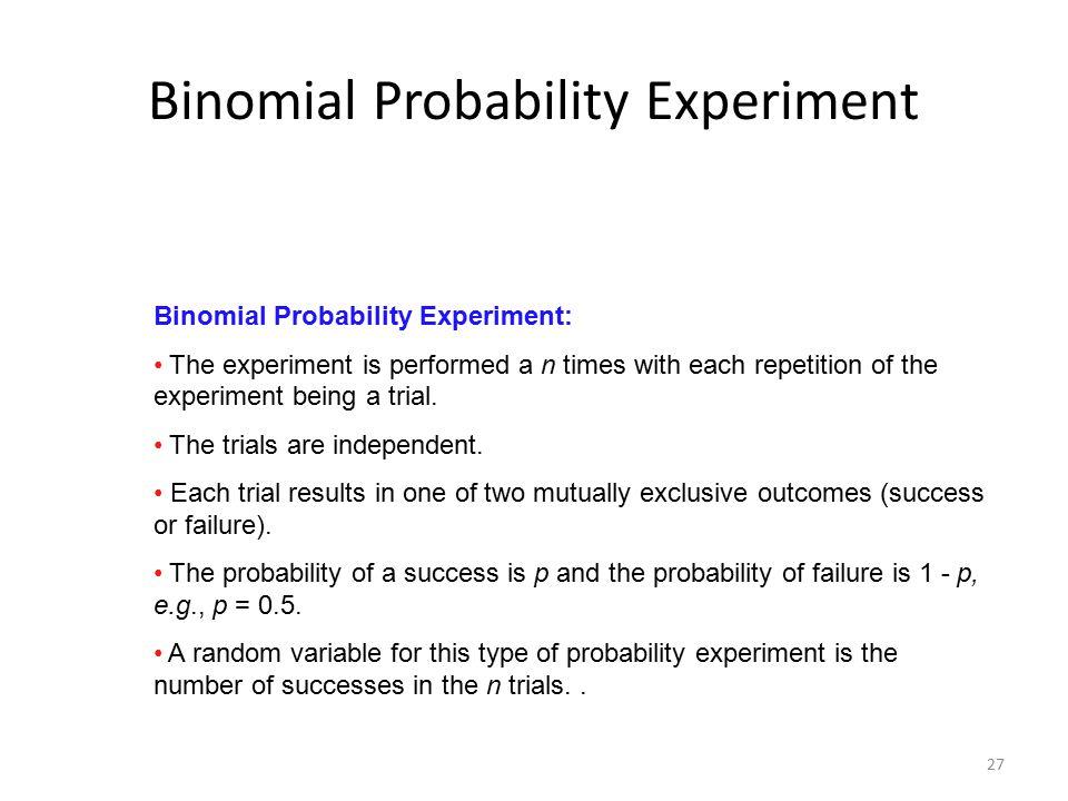 Binomial Probability Experiment