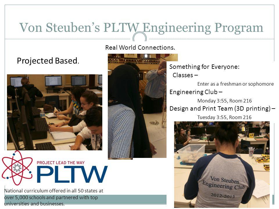 Von Steuben's PLTW Engineering Program