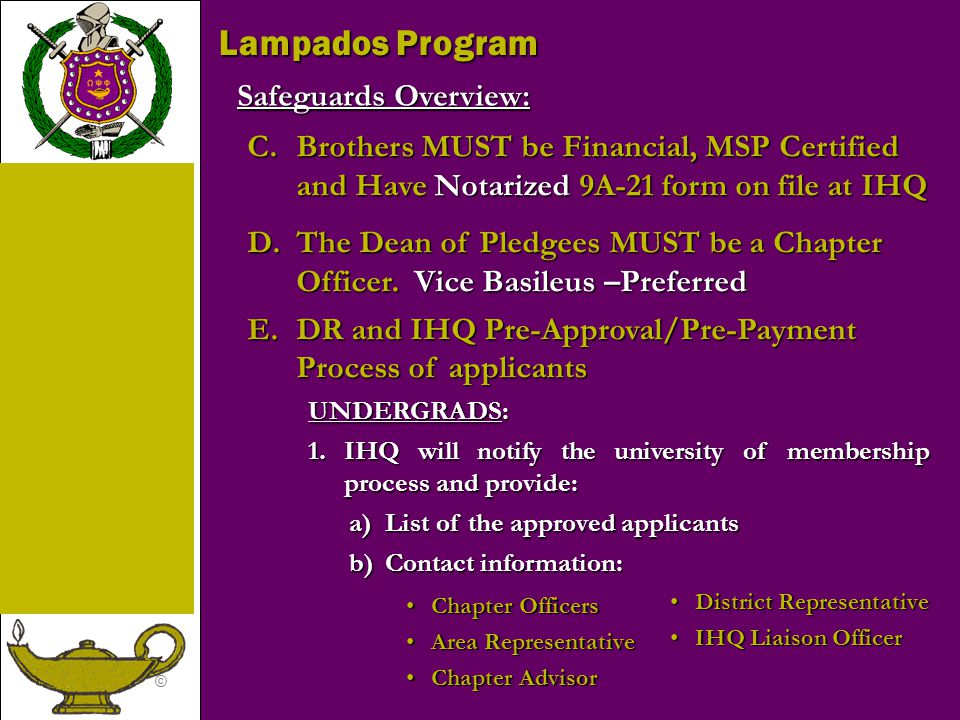 Lampados Program Safeguards Overview: