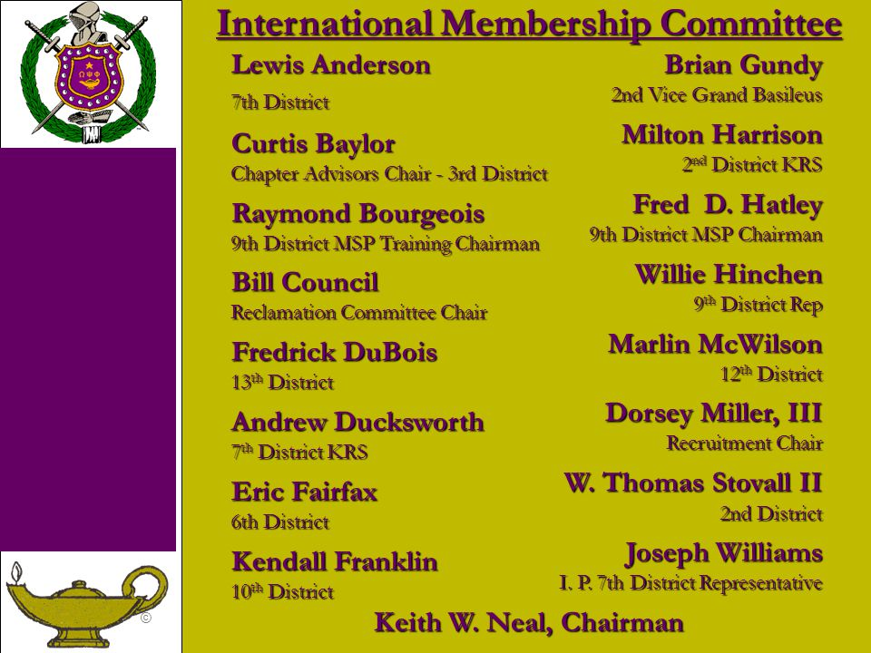 International Membership Committee
