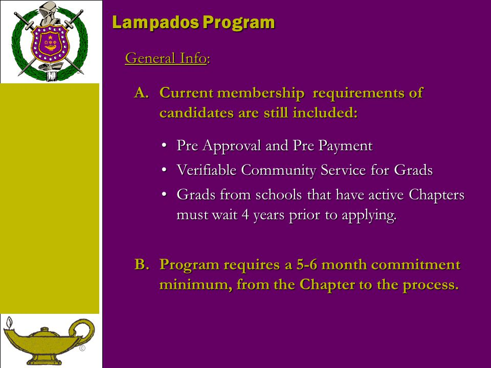 Lampados Program General Info: