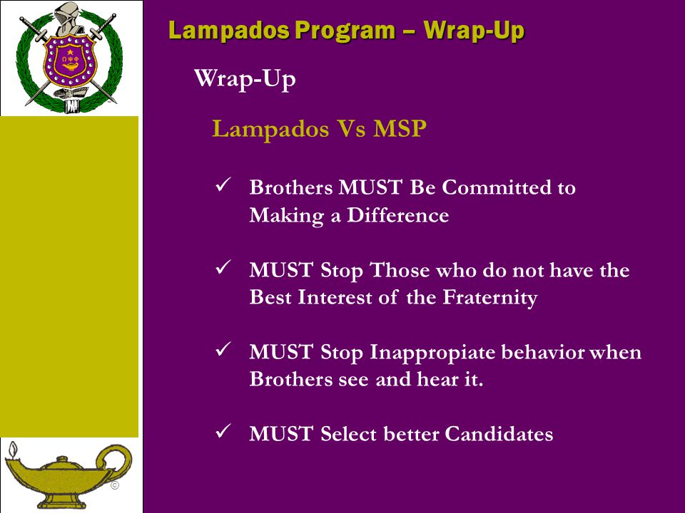 Lampados Program – Wrap-Up