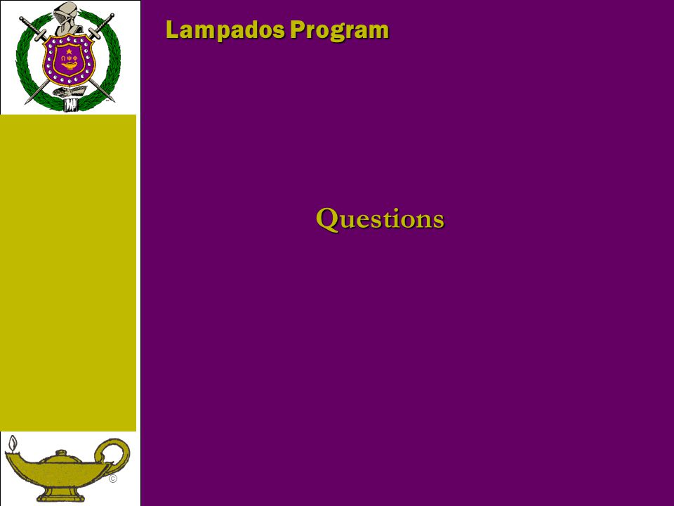 Lampados Program Questions