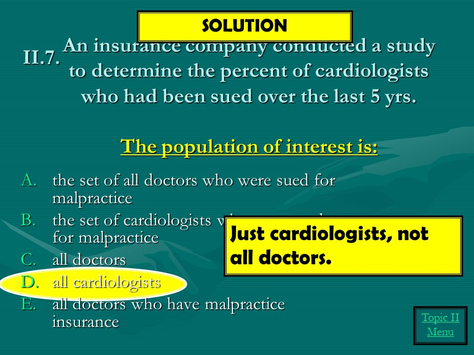 Just cardiologists, not all doctors.