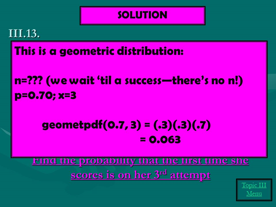 This is a geometric distribution: