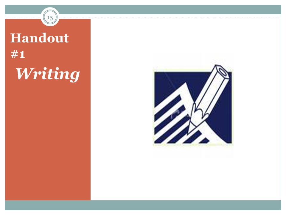 Handout #1 Writing