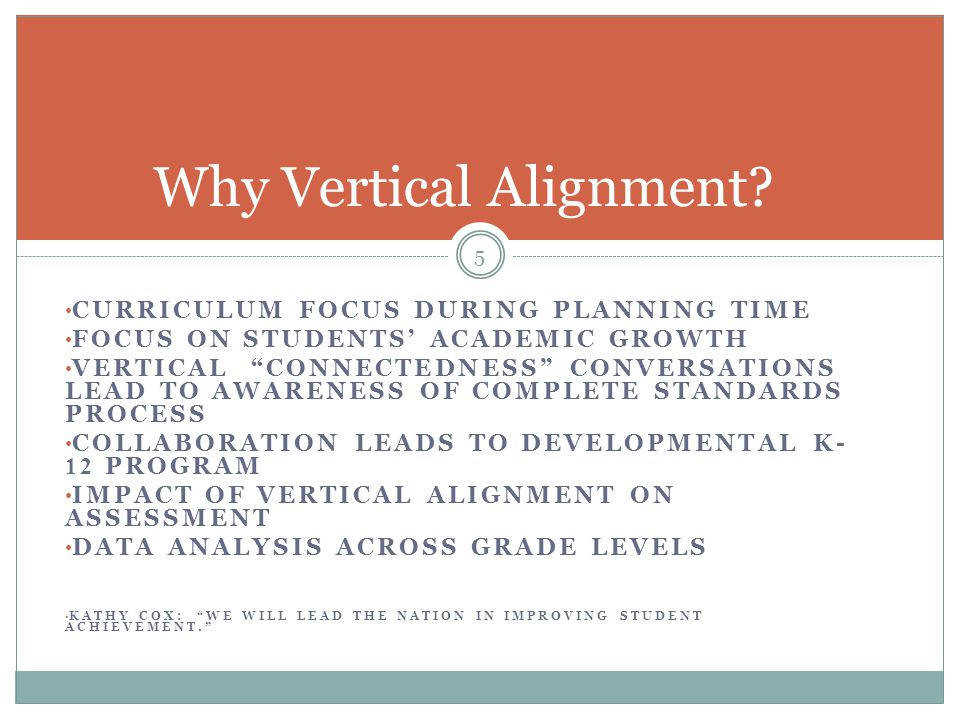 Why Vertical Alignment