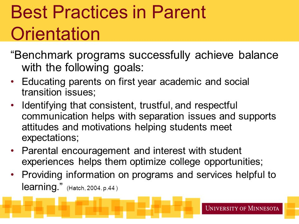 Best Practices in Parent Orientation