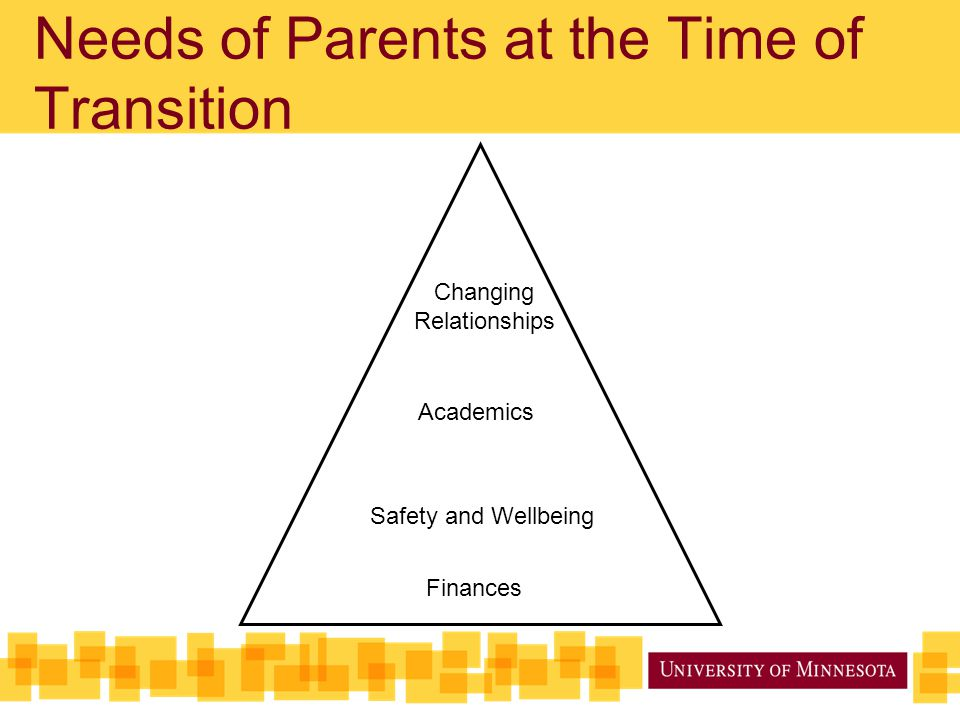 Needs of Parents at the Time of Transition