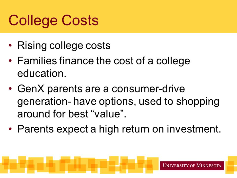 College Costs Rising college costs