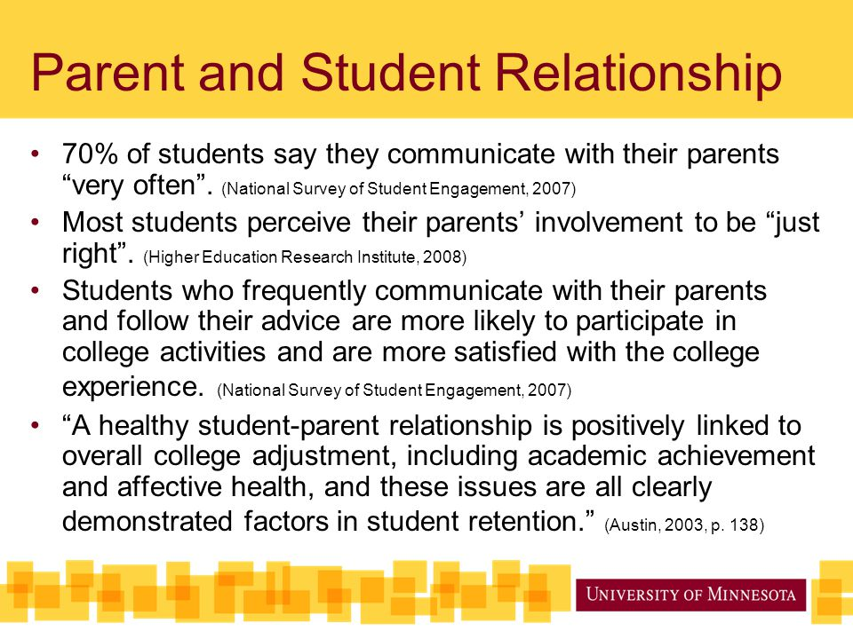 Parent and Student Relationship