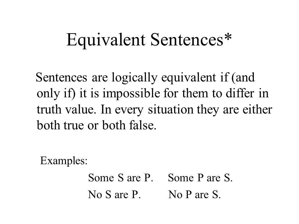 Equivalent Sentences*