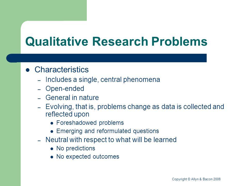Qualitative Research Problems