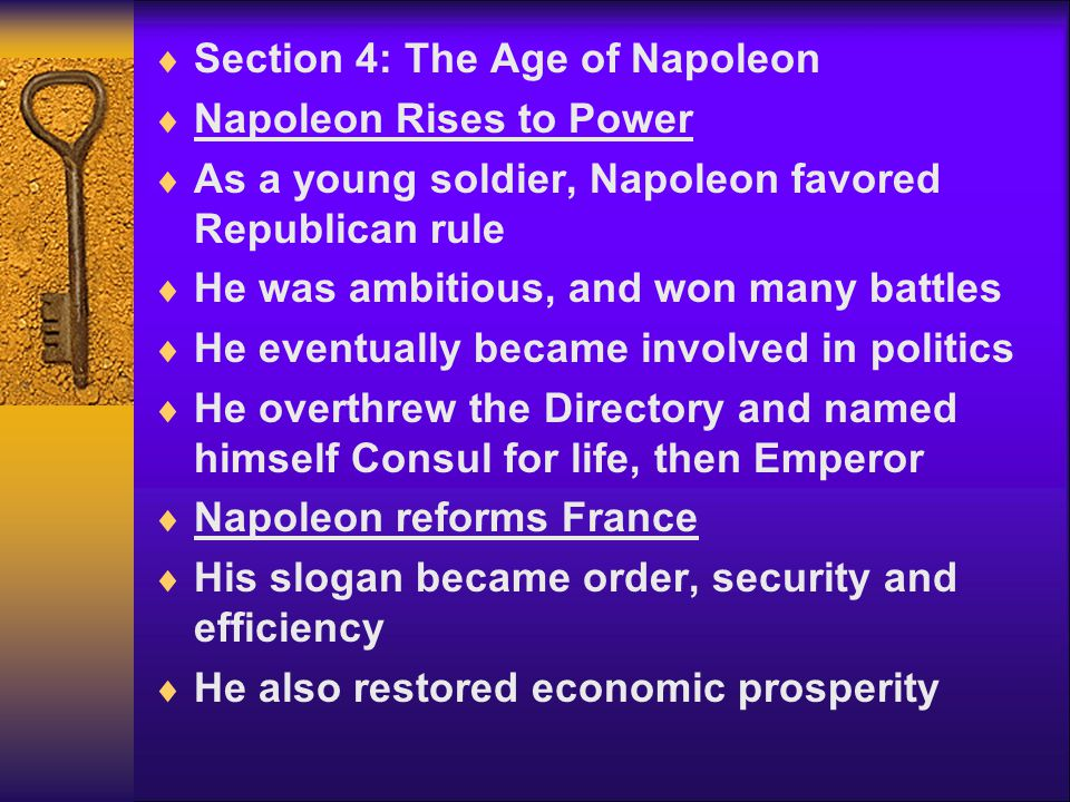 Section 4: The Age of Napoleon