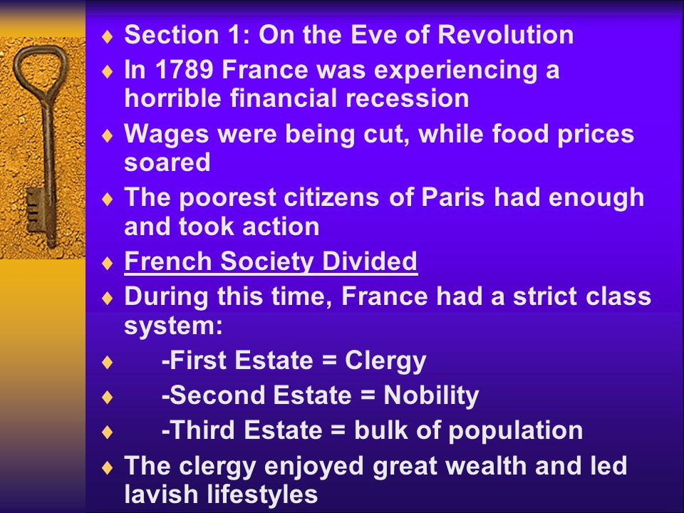 Section 1: On the Eve of Revolution