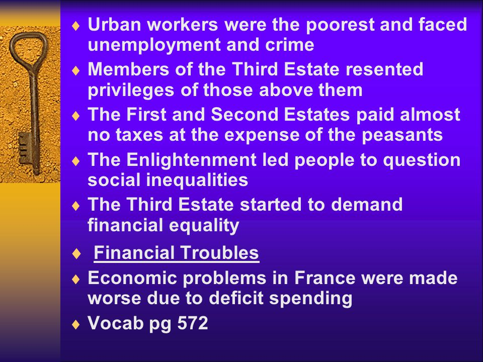 Urban workers were the poorest and faced unemployment and crime