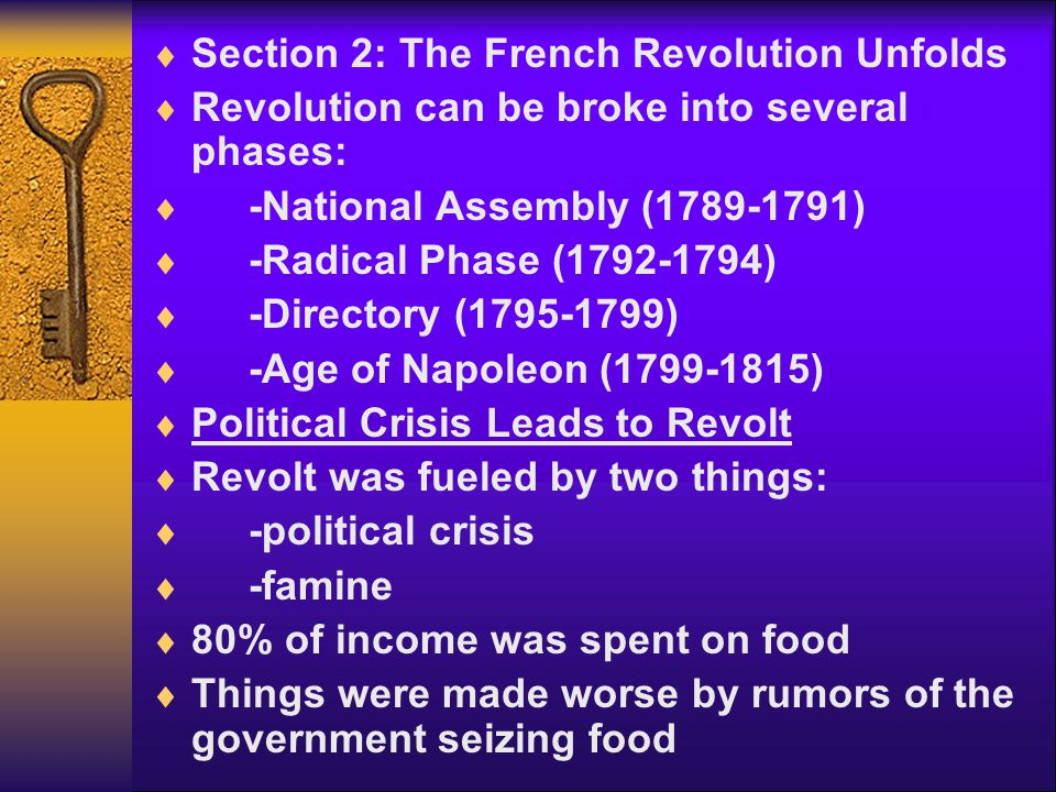 Section 2: The French Revolution Unfolds