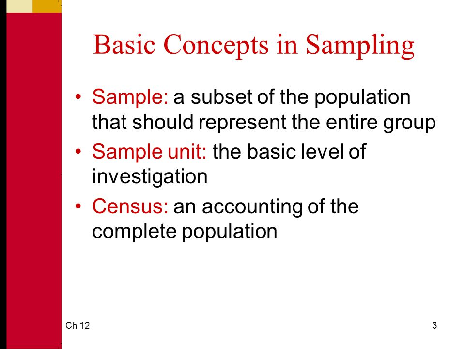 Basic Concepts in Sampling