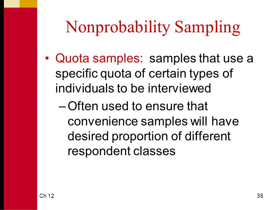 Nonprobability Sampling