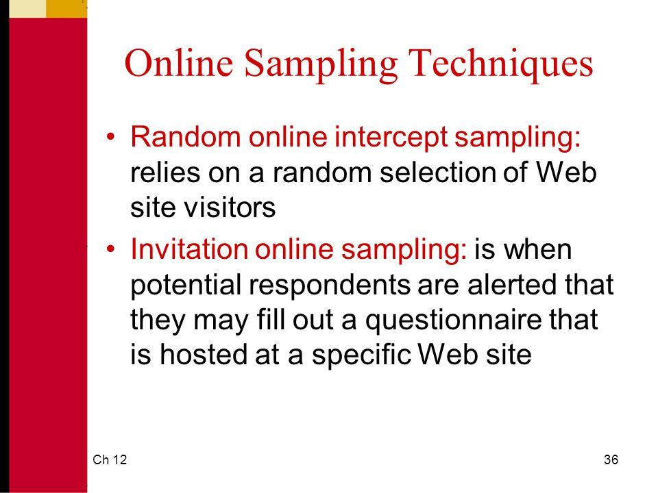 Online Sampling Techniques