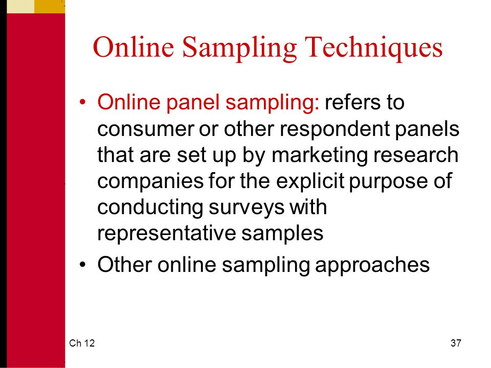 Online Sampling Techniques