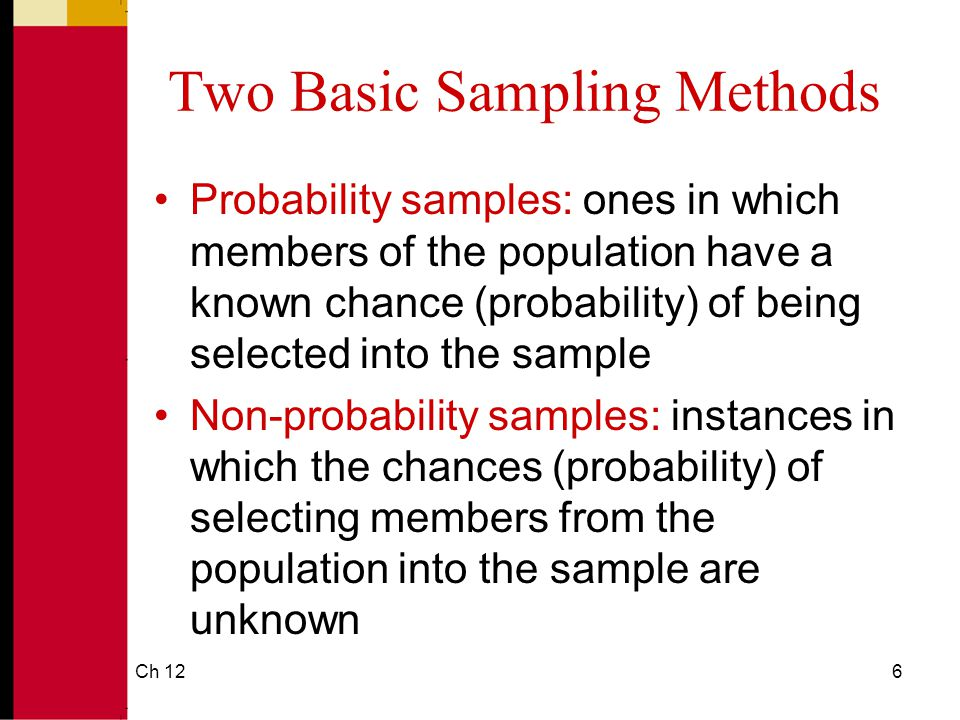Two Basic Sampling Methods