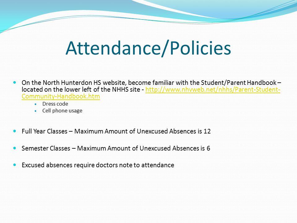 Attendance/Policies