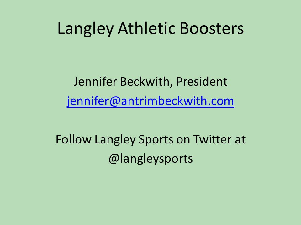 Langley Athletic Boosters