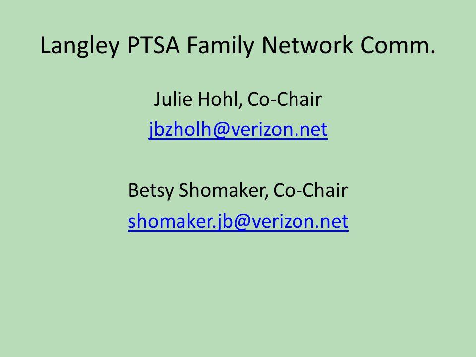 Langley PTSA Family Network Comm.