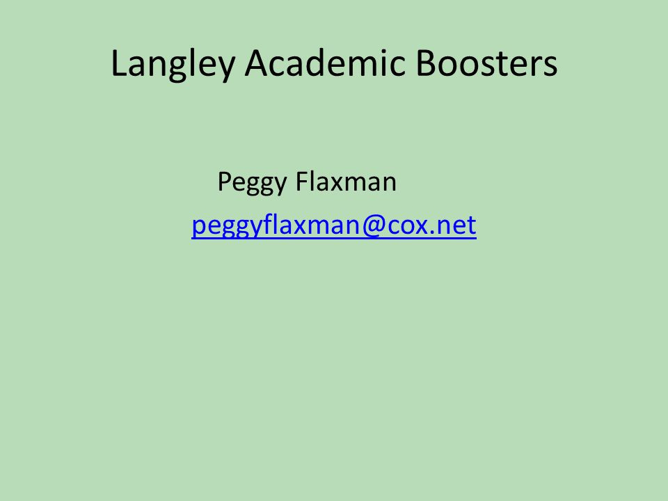 Langley Academic Boosters