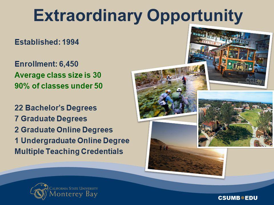 Extraordinary Opportunity